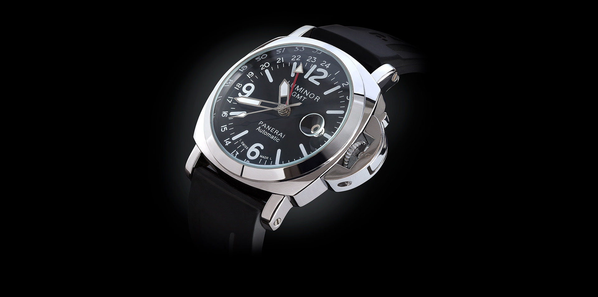 orologio panerai luminor black satinato low key